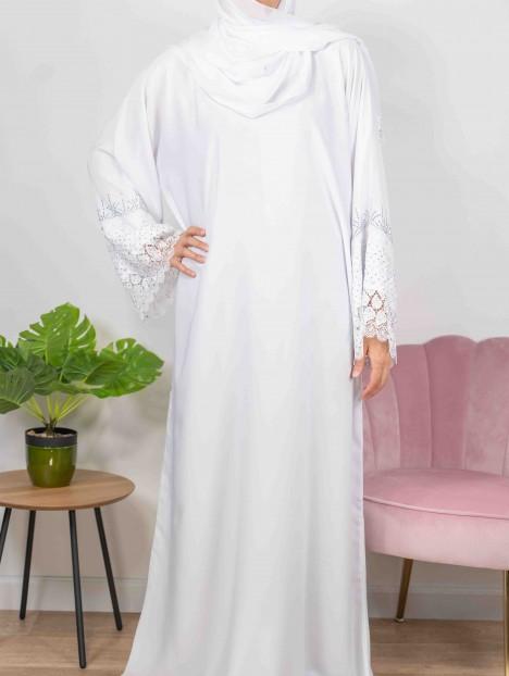 Merveilles d'Orient blanche - Abaya De Dubaï