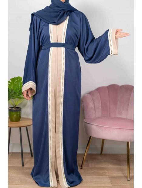 Princesse De Dubaï Bleue Marine - Abaya De DubaÏ