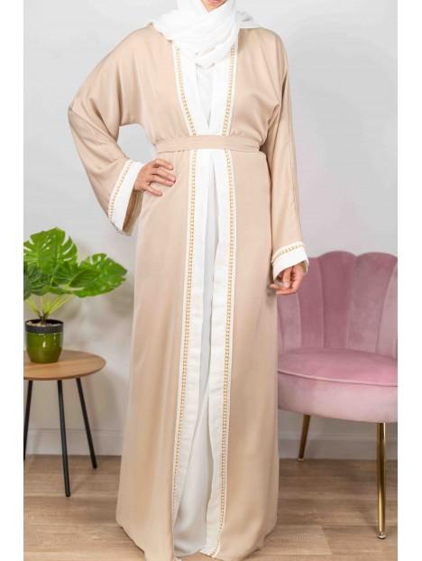 Princesse De Dubaï Crème - Abaya De DubaÏ