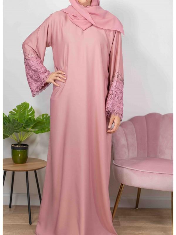 Merveilles d'Orient rose - Abaya De Dubaï