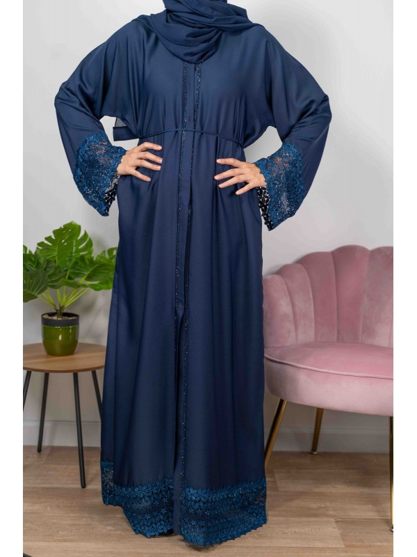 Firdawus De Dubaï Couleur Bleue Marine - Abaya De Dubaï