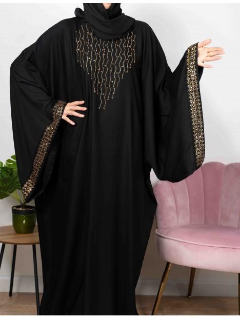 Belle De Nuit Noire De Dubaï - Abaya De Dubaï